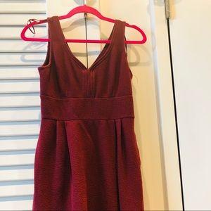 Maroon A-Line Dress- Small